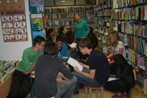 Ekskurzijo smo zaključili v knjižnici v Kranjski Gori